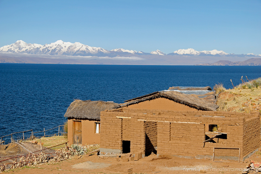 South America, Bolivia, Moon Island. View of Lake Titicaca from Moon Island.