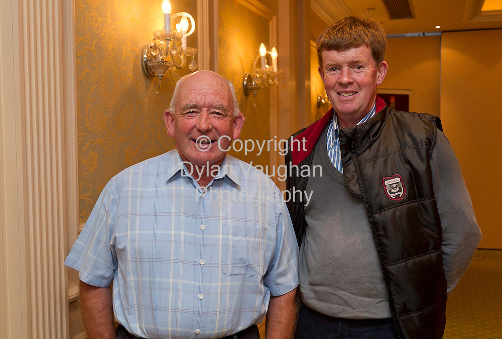 5/9/2011.Seamus Beecher from Fermoy Co Cork and David Lonergan from Conna Co Cork pictured at the Dairy Ireland- Grasping the Opportunity  conference at the Newpark Hotel in Kilkenny..Picture Dylan Vaughan.