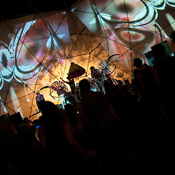 Electronica and visuals in the Geo Dome