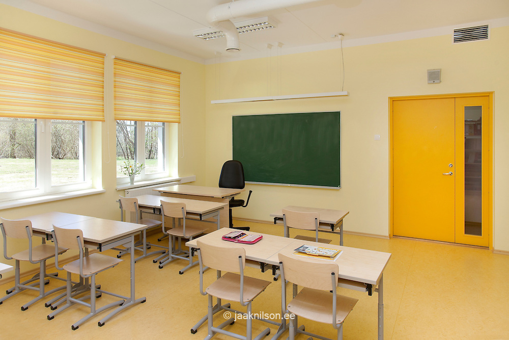 Village school in metsapoole estonia classrooms with for Home interior design schools 2