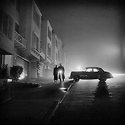 Foggy night, Land's End, San Francisco, 1953
