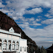 SHOT 7/12/11 8:36:31 AM - Wright's Opera House, sometimes referred to as Wright's Hall, was constructed in 1888 and is located on Main Street in Ouray, Colorado. For many years after the mining bust and subsequent end of performances it was used as a multi-use building for presentations and community events. Around the year 2000 it was converted into a movie theater which operated until late 2006. Currently it serves as a performing arts center and stages annual dance productions. This structure has been placed on the United States National Register of Historic Places. (Photo by Marc Piscotty / © 2011)