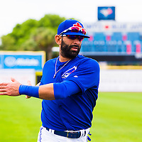 DUNEDIN, FL - March 27, 2015 -- Toronto Blue Jays right fielder José Bautista plays in a Spring Training game against the Detroit Tigers in Dunedin, Florida.  (PHOTO / CHIP LITHERLAND)