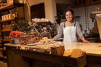 Alison Schneiderm owner of Haven's Kitchen in New York City...Photo by Robert Caplin.