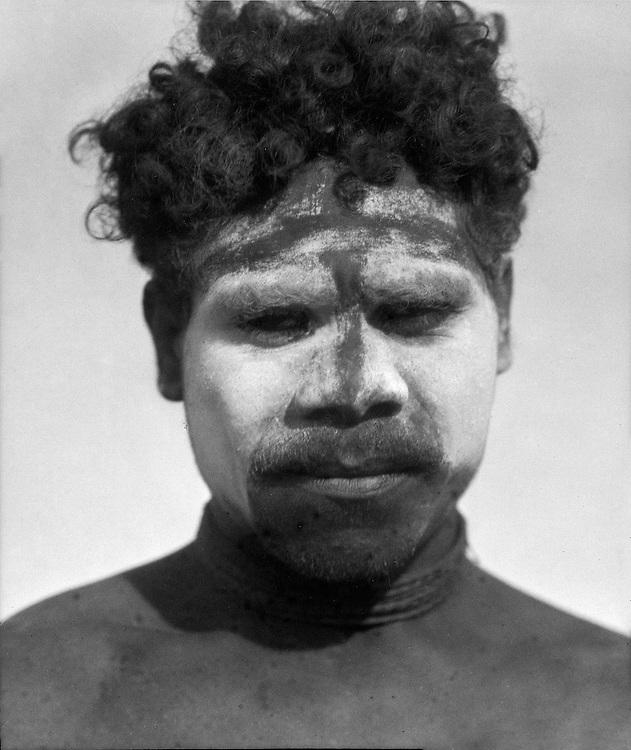 Aborigine in Full War Paint, Central Australia, 1930