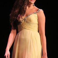 Julia Lensch competes in the evening gown portion during the 66th North Carolina Azalea Festival Scholarship Pageant at Saturday March 8, 2014 at Kenan Auditorium in Wilmington, N.C. (Jason A. Frizzelle)