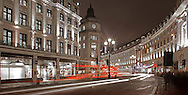 Regent Street, London, england, uk, night, dusk, lighting, retail, buildings, architecture