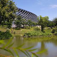Japanese architect Toyo Ito-designed World Games Stadium, Taiwan's first environmentally friendly sports stadium.