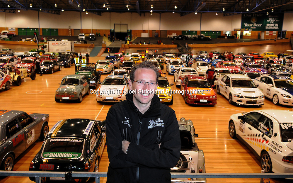 Stuart Benson - Targa Tasmania Event Manager - Operations.At Launceston Silverdome in front of Targa Cars display.Day 2.Targa Tasmania 2010.29th of April 2010.(C) Joel Strickland Photographics.Use information: This image is intended for Editorial use only (e.g. news or commentary, print or electronic). Any commercial or promotional use requires additional clearance.