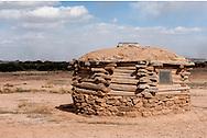 Hogan, Navajo Indian Reservation, south of Shiprock, New Mexico