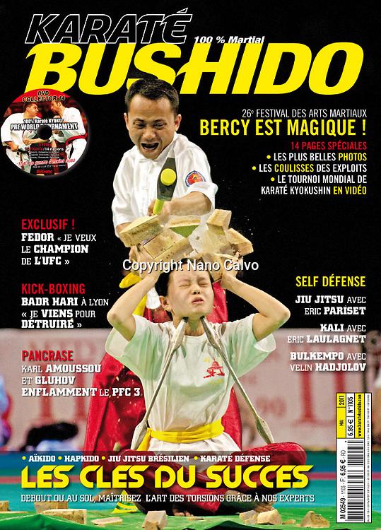 Cover.Karateé Bushido Magazine.May Issue 2011.France