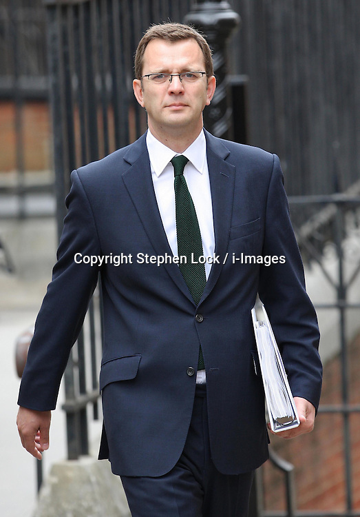 Former News of the World editor and Downing Street communications chief Andy Coulson arriving at The Leveson Inquiry in London, Thursday 10th May 2012.  Photo by: Stephen Lock / i-Images