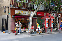 Local shops and street scene in shanghai china