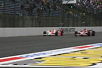 Ryan Briscoe, Dan Wheldon, Indy Japan 300, Twin Ring Motegi, Motegi, Japan, 4/20/2008