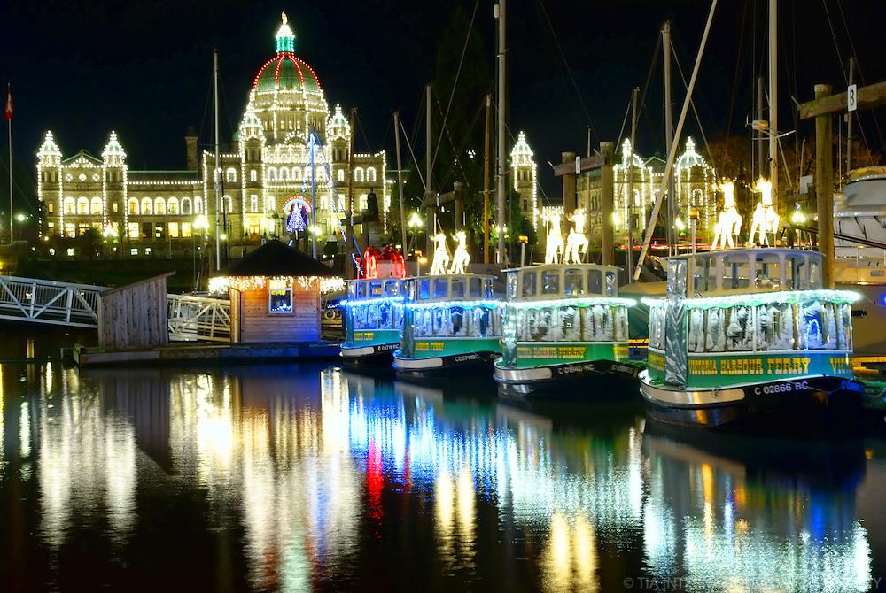 British Columbia Parliament Buildings & Victoria Harbour