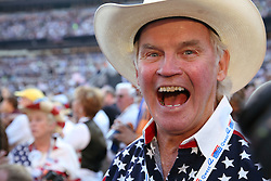 Bill Walsh, a South Dakota delegate, on the floor of the Democratic National Convention, Invesco Field at Mile High Stadium, Denver, Colorado, August 28, 2008.
