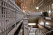 Wall Street Subway Station. Broadway. Snow. Trinity Church. Winter