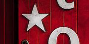 Door with star detail