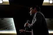 Senator and 2016 Republican presidential candidate, Marco Rubio (R-FL), speaks to potential supporters during a campaign event at Bev&rsquo;s on the River in Sioux City, IA on January 30, 2016. Rubio is in Iowa campaigning in the final days before the Iowa Caucus.<br /> <br /> The Iowa Caucus is the first major electoral event of the nominating process for President of the United States. Both the Democratic and Republican Iowa Caucus will occur on February 1, 2016.