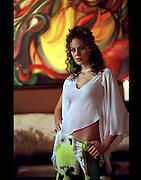 Miss Mundo Puerto Rico 2002, Casandra Polo during Fashion Shoot for El Vocero Newspaper. (2002)