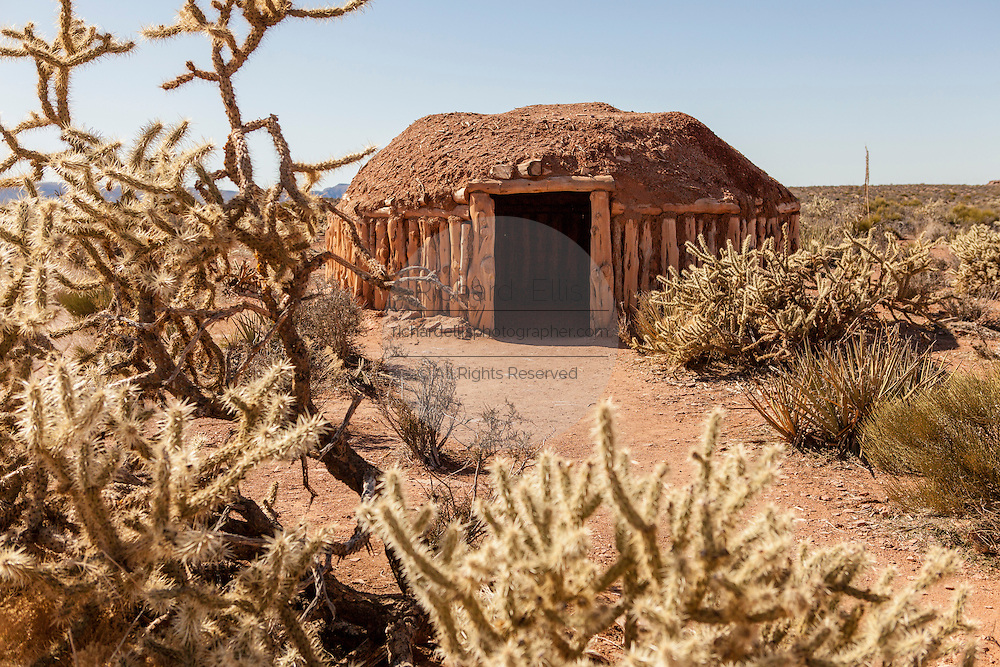 Traditional Hualapai sweat lodge at the Grand Canyon West in the Hualapai Nation reservation, AZ.