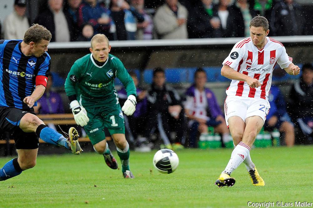 DK Caption:<br /> 20110827, K&oslash;ge, Danmark:<br /> Superliga fodbold, HB K&oslash;ge - AAB:<br /> Henrik Dalsgaard, Aab Aalborg. scorer til 2-0<br /> Foto: Lars M&oslash;ller<br /> <br /> UK Caption:<br /> 20110827, Koege, Denmark:<br /> Superleague football  HB Koege - AAB:<br /> Henrik Dalsgaard, Aab Aalborg. scorer til 2-0<br /> Photo: Lars Moeller