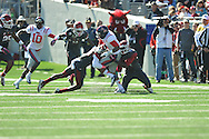 Ole Miss' Randall Mackey (1) vs. Arkansas at War Memorial Stadium in Little Rock, Ark. on Saturday, October 27, 2012. Ole Miss won 30-27...