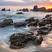 Receding Tide Corona Del Mar Tide Pools - Sunset