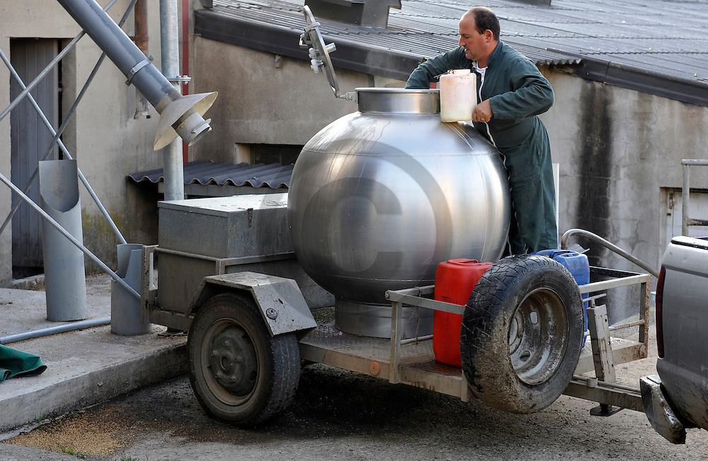 28/08/09 - CUSSAC - CANTAL - FRANCE - GAEC Charreire. Batiment des laitieres - Photo Jerome CHABANNE