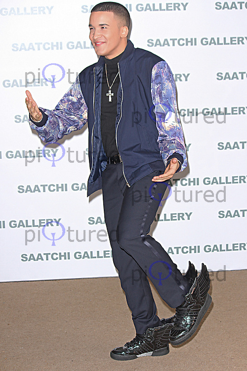 Jahmene Douglas, Pangaea: New Art from Africa & Latin America - Private View, Saatchi Gallery, London UK, 01 April 2014, Photo by Brett D. Cove