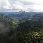 View into Black River Gorges National Park, the largest national park in Mauritius and one of the last strongholds for many critically endangered plant species.