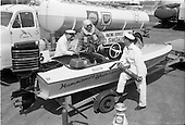 1963 - Refuelling Mr. (Joe ?) Acton's speedboat at Irish Shell installation at Alexandra Road