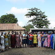 Members of a 'Banking on Change' Village Savings and Loan Association (VSLA) at Dabala Junction in the Volta Region of Ghana on 12 September 2012.