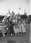 1952 - Swedish students arrive on Holiday Exchange Scheme at Dun Laoghaire