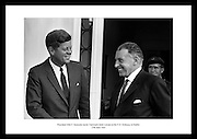 President Kennedy leaving the U.S. Emabssy in Dublin after talks with An Taoiseach Se&aacute;n Lemass.  The President then left for a visit to his ancestral home in Wexford.<br />
