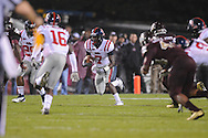 Ole Miss' Tobias Singleton (7) vs. Mississippi State in Starkville, Miss. on Saturday, November 26, 2011.