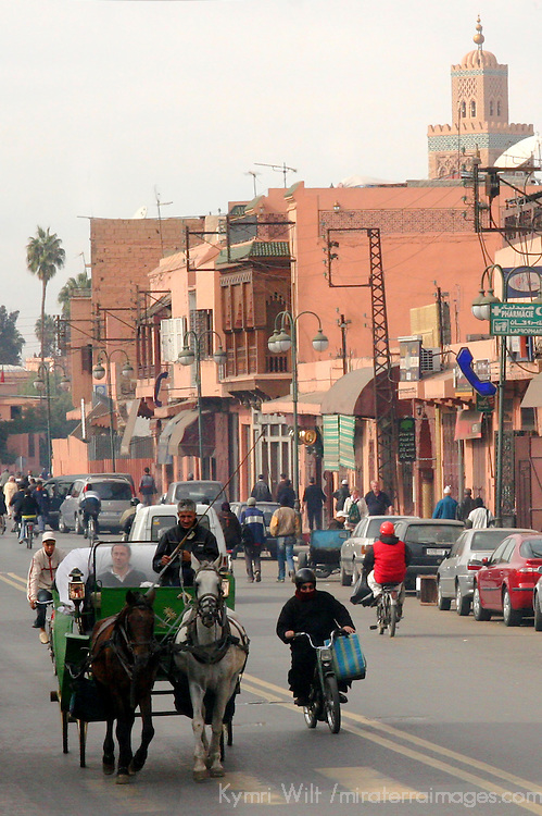 North Africa, Africa, Morocco, Marrakesh. Street Scene.