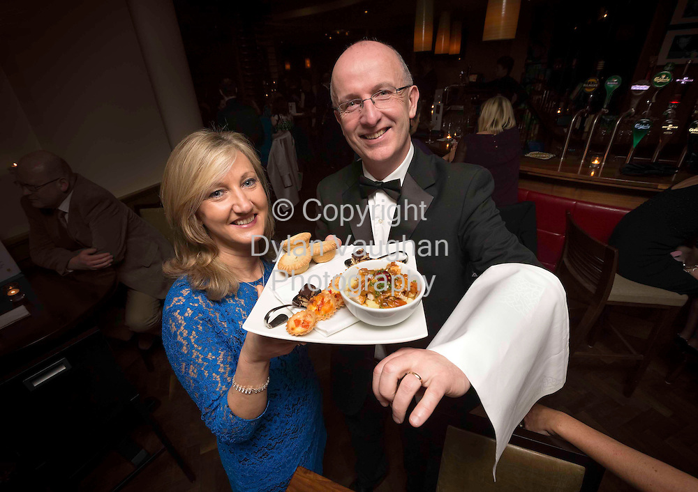 5/1/2012.Miriam Donohoe and John Murray pictured at the Nollaig na mBan event at the Pembroke Hotel in KIlkenny..Picture Dylan Vaughan.