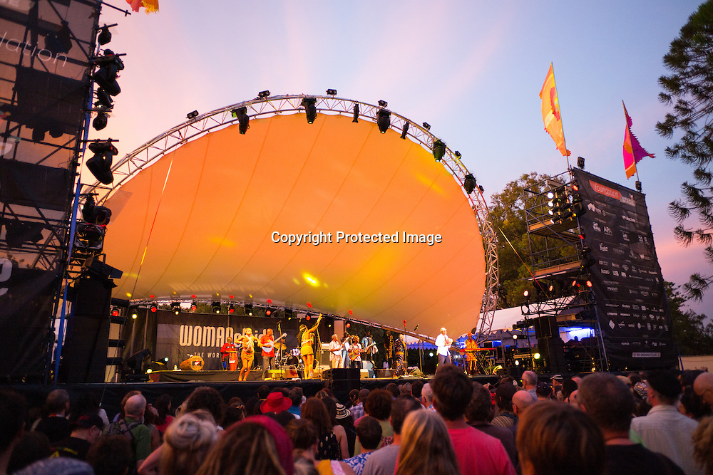 Seun Kuta and Egypt 80 play at Womadelaide 2016 Music Festival held between 11 - 14 March 2016 in Adelaide, South Australia