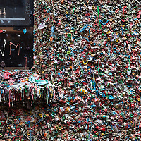 WA09570-00...WASHINGTON - The Gum Wall in Post Alley of Seattle's Pike Place Market.