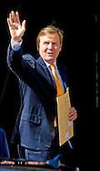 """THE HAGUE - King Willem Alexander arrives at the Noordeinde Palace for the """"appetjes van Oranje """" COPYRIGHT ROBIN UTRECHT"""