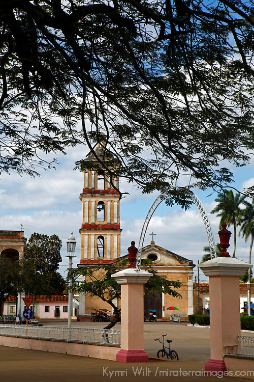Central America, Cuba, Remedios. Iglesia del Buen Viaje, the second and lesser church on Plaza mayor in Remedios.