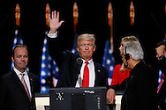 Republican presidential nominee Donald Trump waves during his walk through at the Republican National Convention in Cleveland July 21, 2016.  REUTERS/Rick Wilking