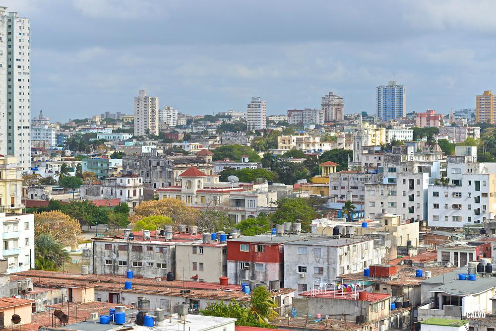 Aerial view of Vedado neighborhood