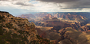 A panoramic view of the Grand Canyon as viewed from Mather Point.