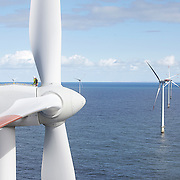Corporate photography on offshore wind power in Denmark