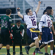 EricAnderson celebrates after scoring a touch down pass during the inaugural Special Olympics DIAA Unified Flag Football Championship game, Newark Charter defeated McKean 35-28 Saturday, Dec. 03, 2016 at Delaware Stadium in Newark.