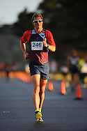 CAPE TOWN, SOUTH AFRICA - OCTOBER 10: Marc Mundell, Olympian, in the mens 20km during the South African Race Walking Championship at Youngsfield Military Base on October 10, 2015 in Cape Town, South Africa. (Photo by Roger Sedres/ImageSA)