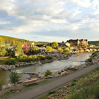 The San Juan River in Pagosa Springs, Colorado