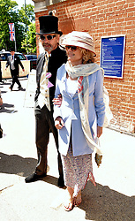 Jeremy Irons and Sinead Cusack attend Royal Ascot Ladies Day at Ascot Racecourse, Ascot, Berkshire on Thursday 18 June 2015